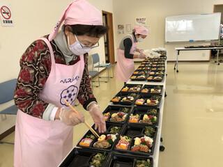 沖郷支部社協のふれあい給食サービス第2回目が実施されました