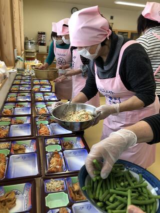 吉野支部 第2回ふれあい給食サービスが実施されました