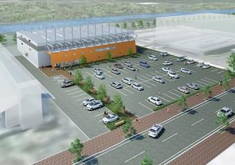 寒河江市屋内多目的運動場新築工事が着工しました。