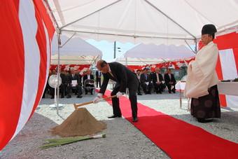 天童市立成生公民館改築工事が始まります。