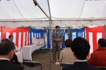 村山運送新社屋新築工事の起工式が行われました。