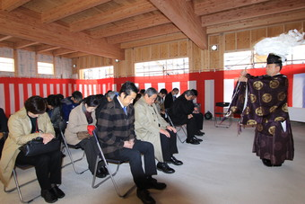 山形県コロニー協会天童サポートセンター新築工事の上棟式が行われました