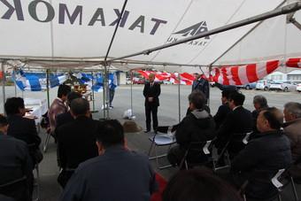 天童市万代にて野川商事グループの新社屋・食肉加工棟の新築工事が始まります