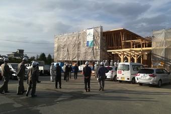 天童市立津山公民館の構造現場見学会がありました